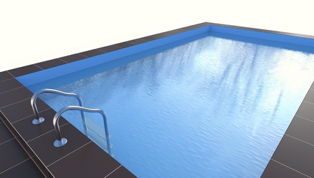 3d swimming pool: Pool. Isolated on white