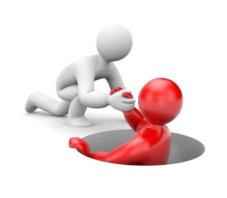 help hand: Partnership. Isolated on white
