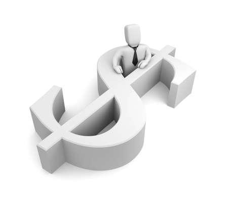 stockexchange: Finance concept. Isolated on white