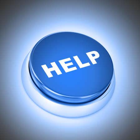 help button: Communication button Stock Photo