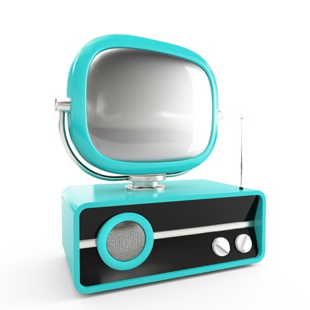 Red retro TV Stock Photo - 12869235