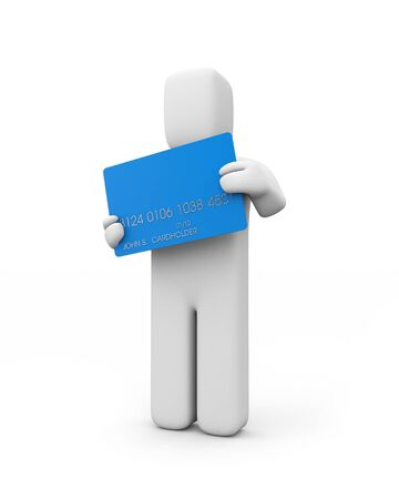 cardholder: Cardholder  Person hold credit card Stock Photo