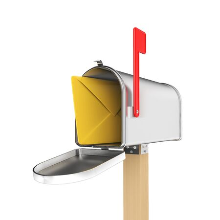 mailman: Symbol of  Communication Stock Photo