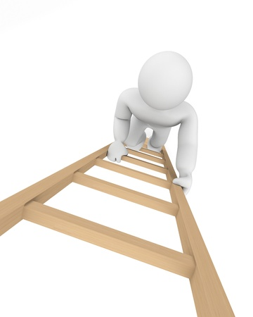 woman stairs: Success concept