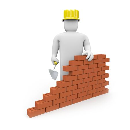 main idea: Construction and Security concept Stock Photo