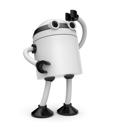 robot arm: Business concept