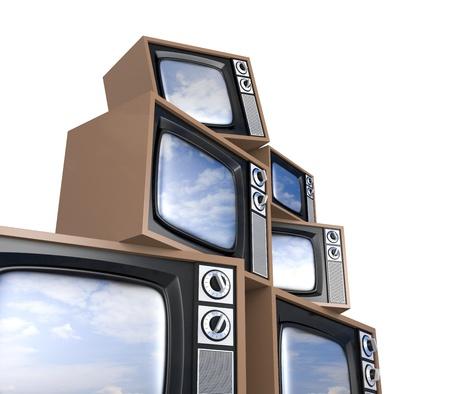Heap of retro TV photo