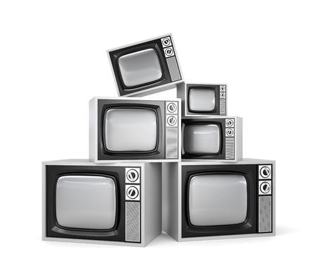 bandwidth: Heap of retro TV Stock Photo