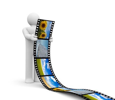 film tape: Conceptual image Stock Photo
