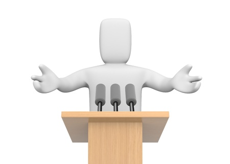 3d person speaking photo