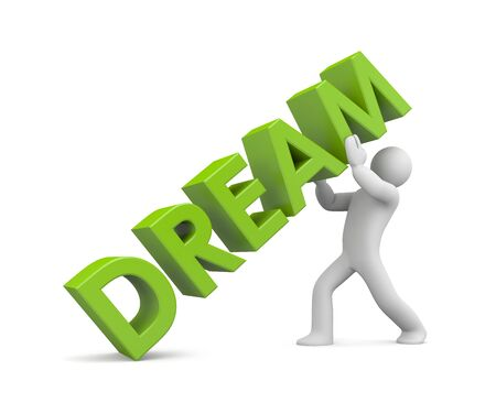 freedom of expression: Dream  Image contain the clipping path Stock Photo