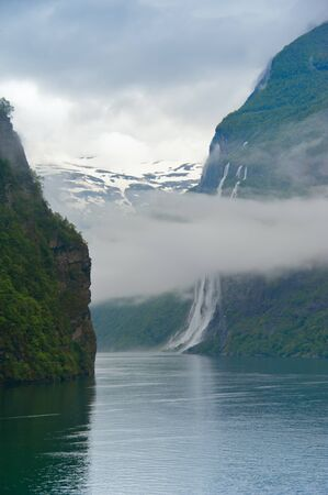Water and mountain  Norway  Geiranger  photo