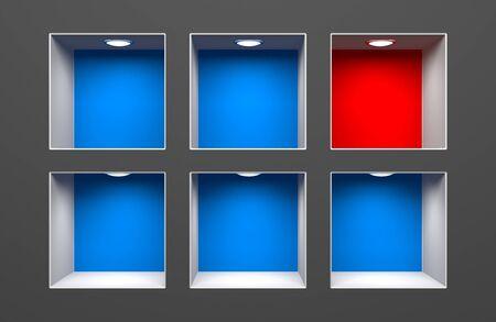 Different metaphor. Conceptual 3d image photo