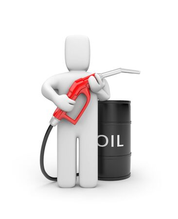 oil barrel: Business concept. Isolate on white