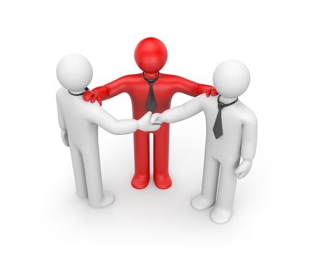 personas saludandose: Concepto de negocio. Aislar en blanco Foto de archivo