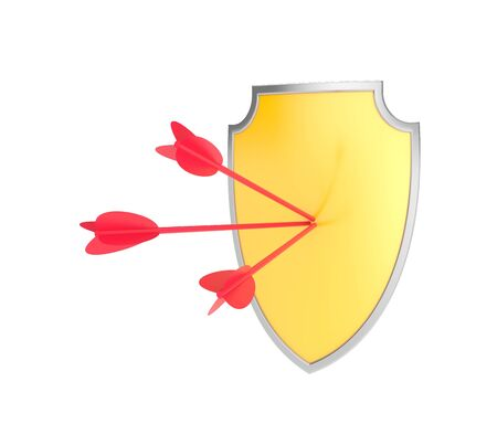 panoply: Security concept  Isolate on white Stock Photo