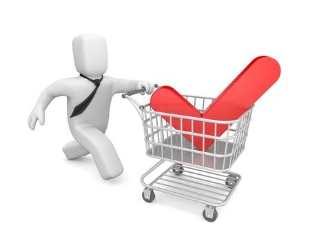 checkout: Business concept