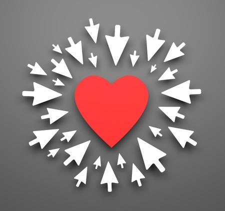 hart: Love background. Illustration for Valentines day