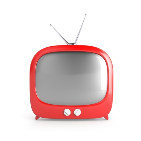 Red retro TV Stock Photo - 13593346