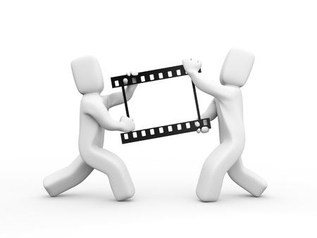 film tape: Teamwork metaphor Stock Photo