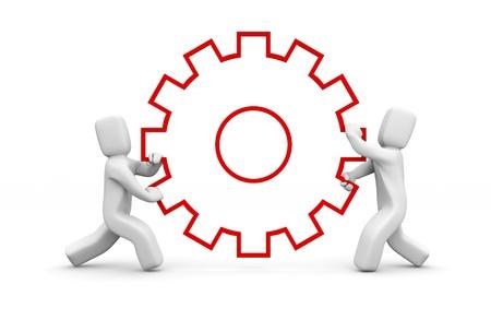 la union hace la fuerza: El trabajo en equipo concepto