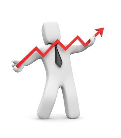 winning proposal: Businessman with arrow Stock Photo