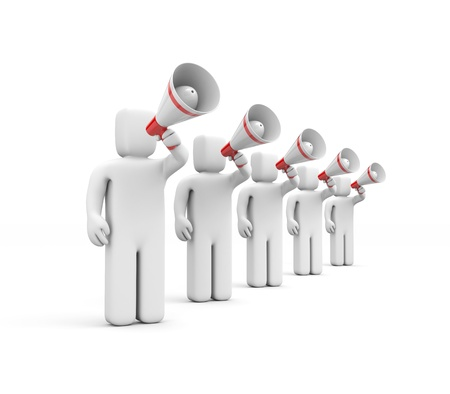 Communication concept isolated on white Stock Photo - 13592317