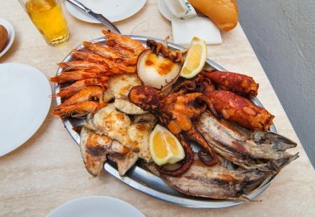 Assorted seafood. Seafood. Canary isle photo