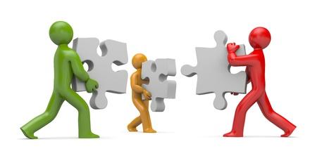 Partnership,isolated on white photo
