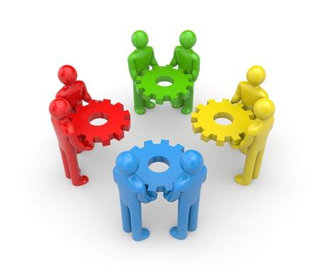 Partnership concept. Isolated on white photo