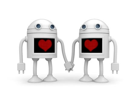 jackplug: Love concept  Isolated on white Stock Photo