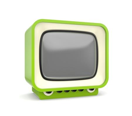 tele: Stylish retro TV  More cute TV in my gallery Stock Photo
