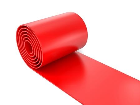 walk of fame: Red carpet Stock Photo