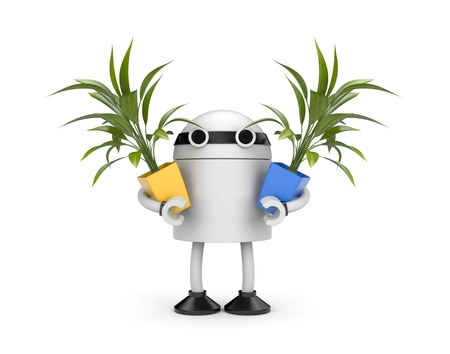 bot: Gardening concept  Isolated on white