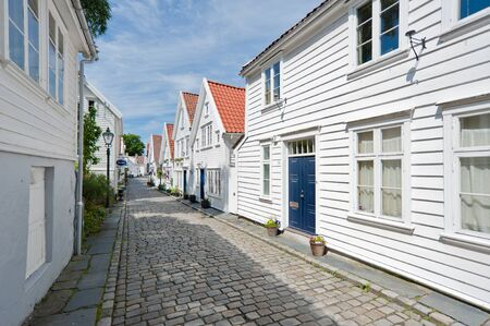 roadway: Stavanger street  Travle on Norway Stock Photo