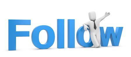 follow me: Follow me Stock Photo