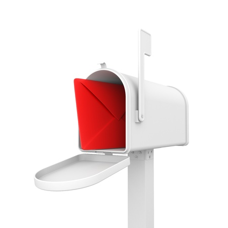 post box: Communication concept. Isolated on white Stock Photo