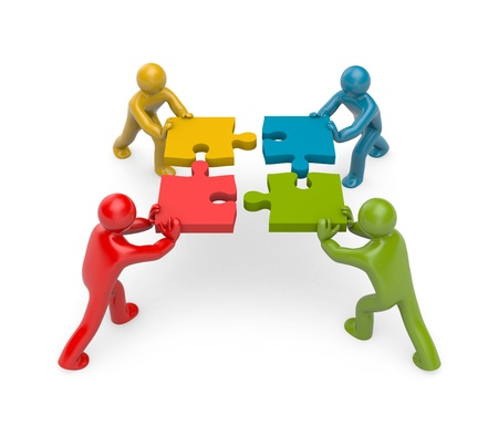 team worker: partnership concept