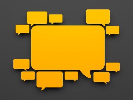 vélemény: Kommunikációs koncepció. Háttér narancssárga rakhatja Stock fotó