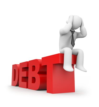 bankruptcy: Business concept. Isolated on white.