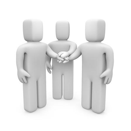 consensus: teamwork concept