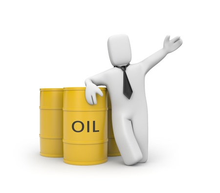 gasoil: Business concept  Isolated on white