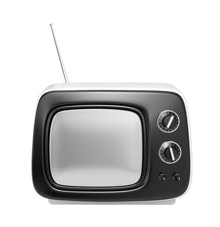 tvset: Stylish retro TV  More cute TV in my gallery Stock Photo