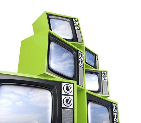 ver tv: Montón de TV retro