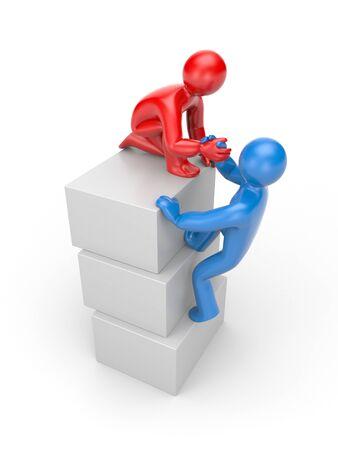 Partnership concept  Isolated on white photo