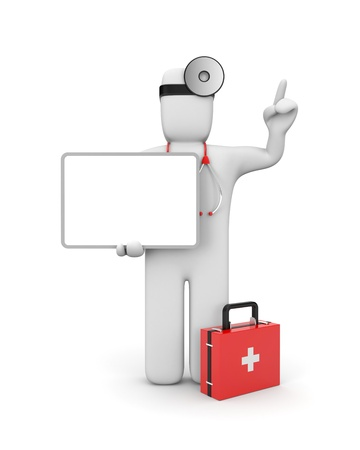 job offers: Medical concept. Isolated on white