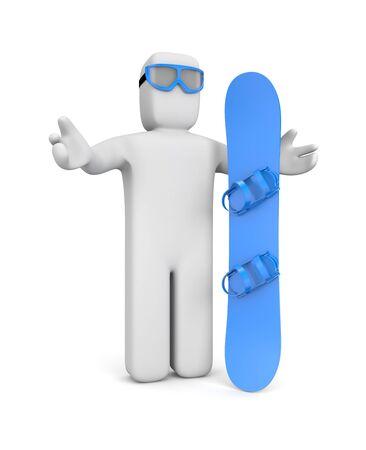 piste: Snowboarder