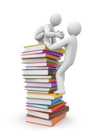 knowledge: Education-Konzept. Isoliert auf wei�em