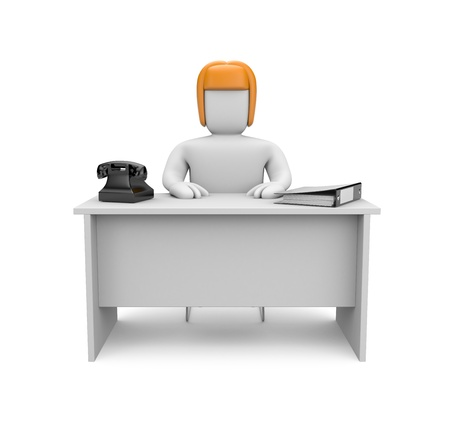receptionist: People at work