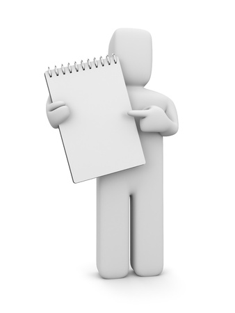 book mark: Person with notepad Stock Photo